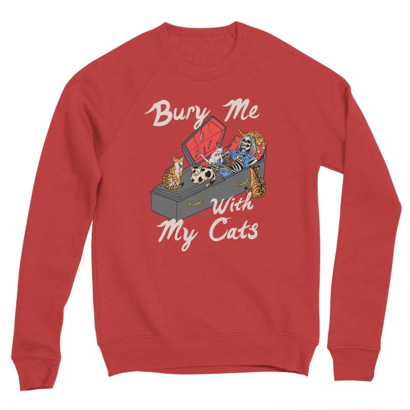 Bury Me With My Cats Men's Sponge Fleece Sweatshirt by Hillary White