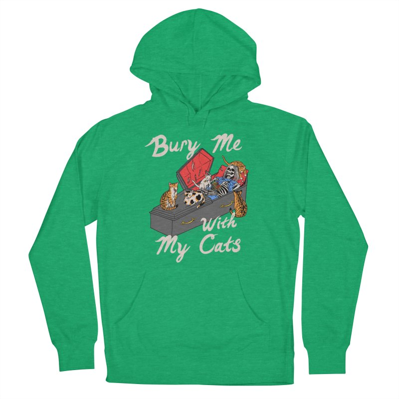 Bury Me With My Cats Men's French Terry Pullover Hoody by Hillary White