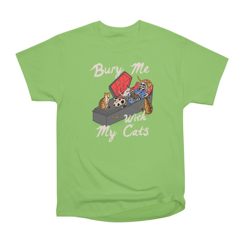 Bury Me With My Cats Men's Heavyweight T-Shirt by Hillary White