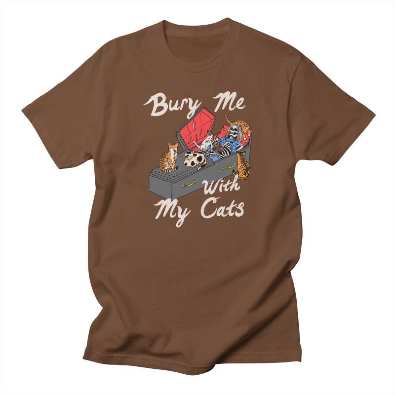Bury Me With My Cats Men's Regular T-Shirt by Hillary White