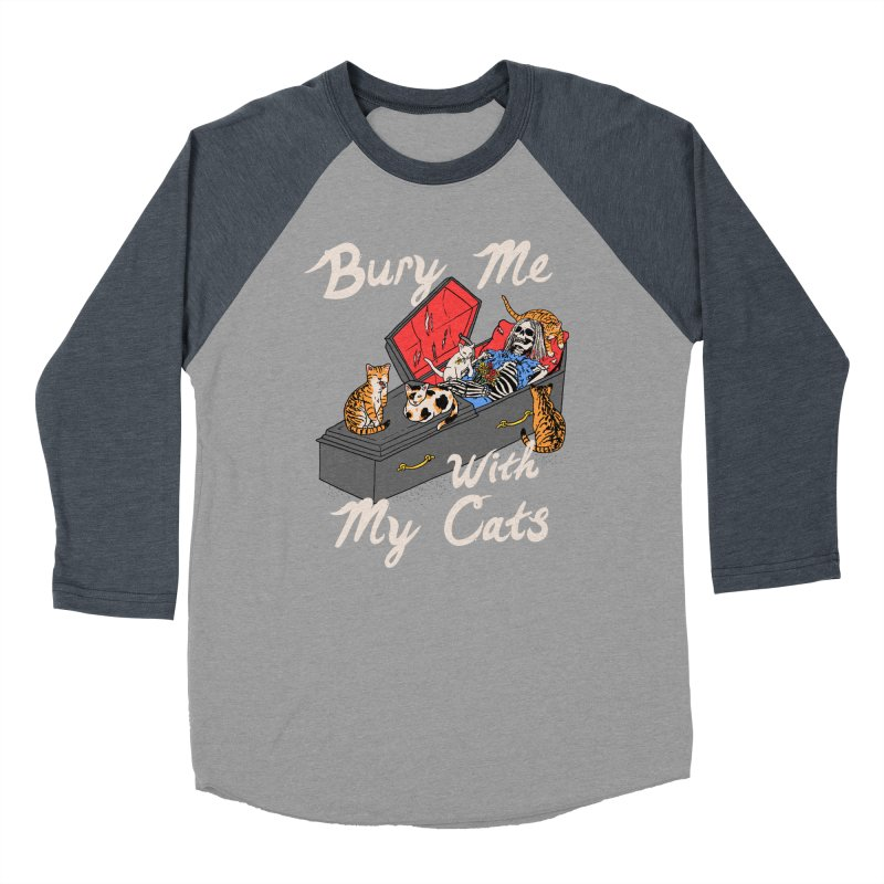 Bury Me With My Cats Women's Baseball Triblend Longsleeve T-Shirt by Hillary White