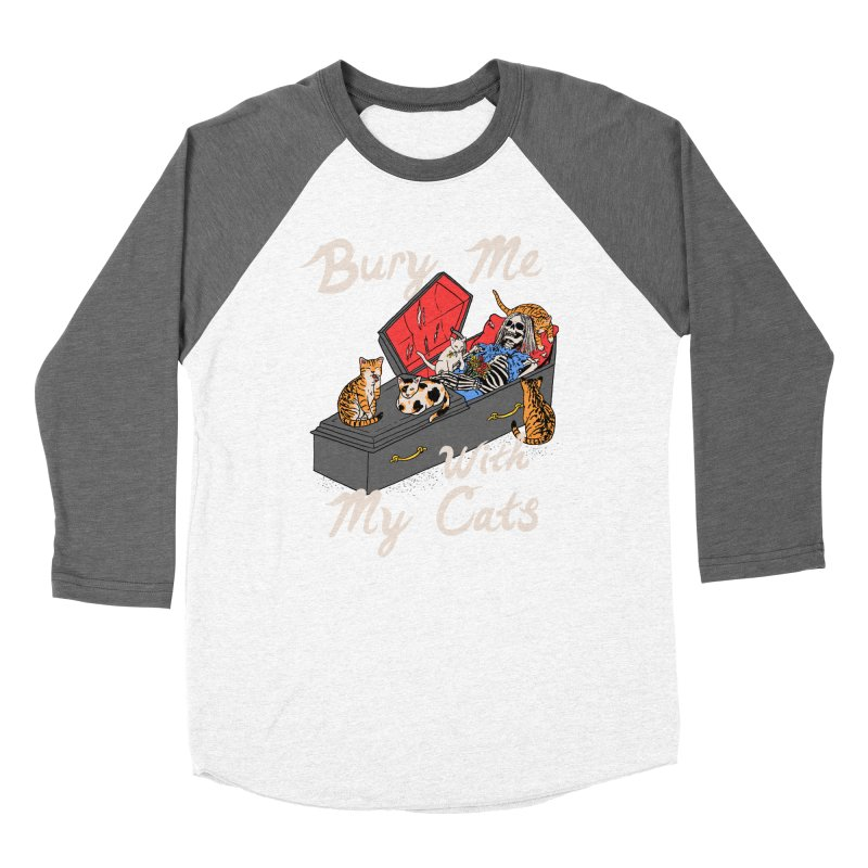 Bury Me With My Cats Men's Baseball Triblend Longsleeve T-Shirt by Hillary White