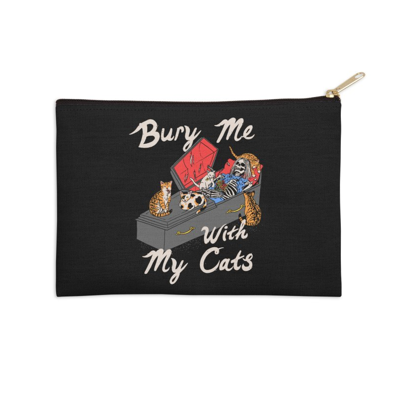 Bury Me With My Cats Accessories Zip Pouch by Hillary White