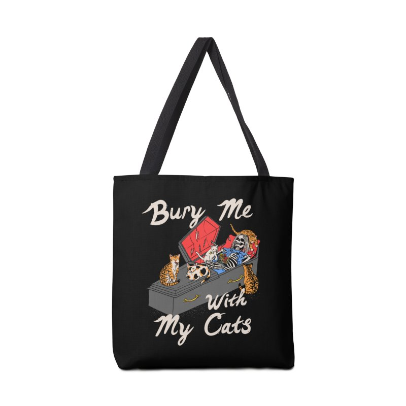 Bury Me With My Cats Accessories Bag by Hillary White
