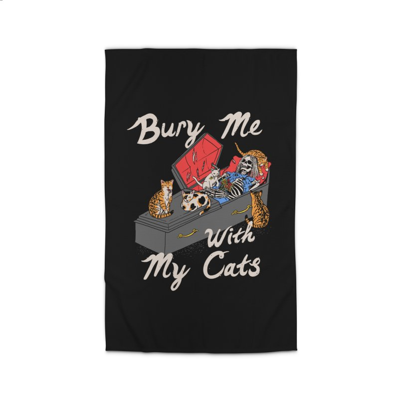 Bury Me With My Cats Home Rug by Hillary White