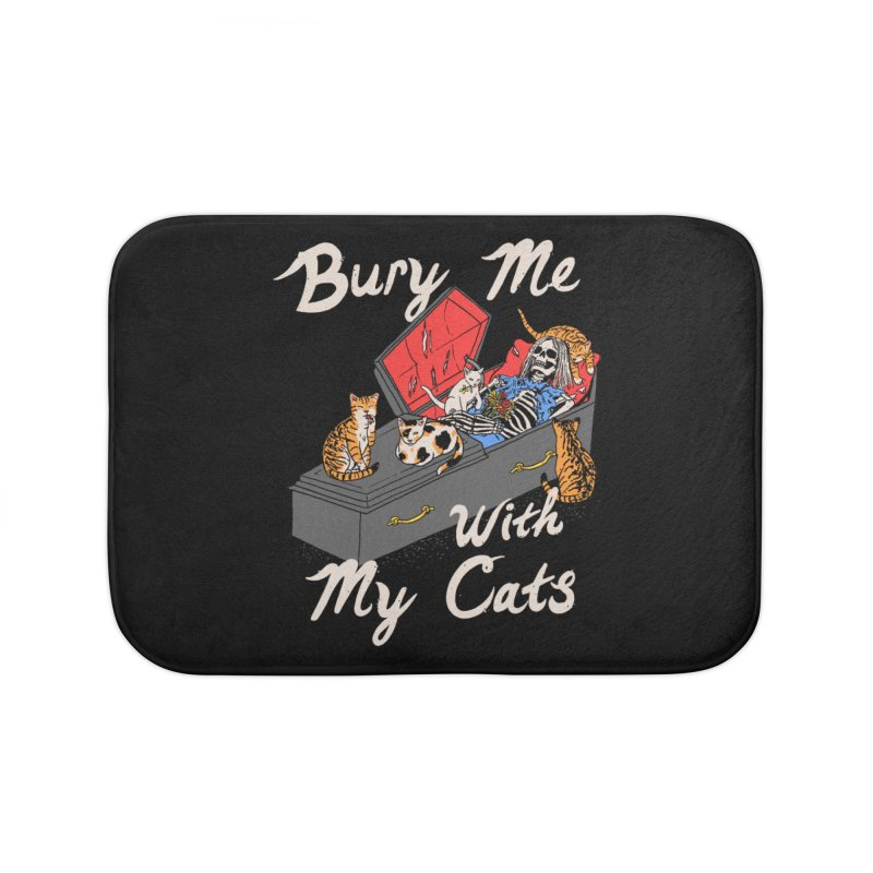 Bury Me With My Cats Home Bath Mat by Hillary White