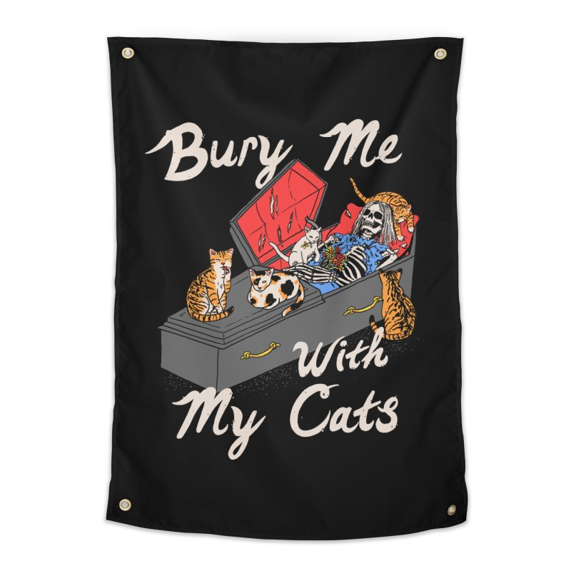 Bury Me With My Cats Home Tapestry by Hillary White