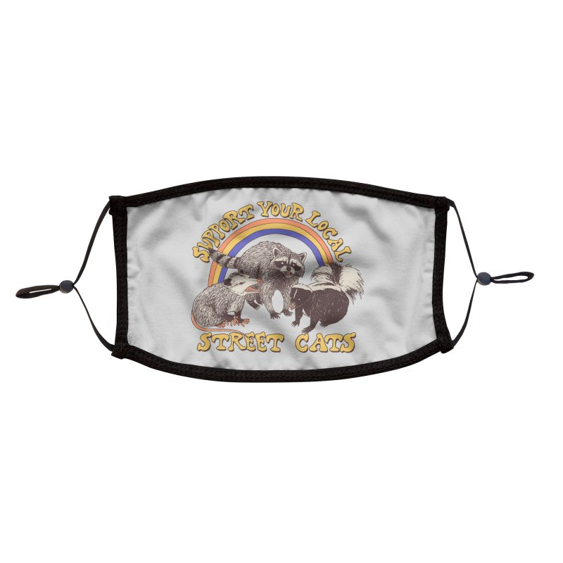 Street Cats Accessories Face Mask by Hillary White Rabbit