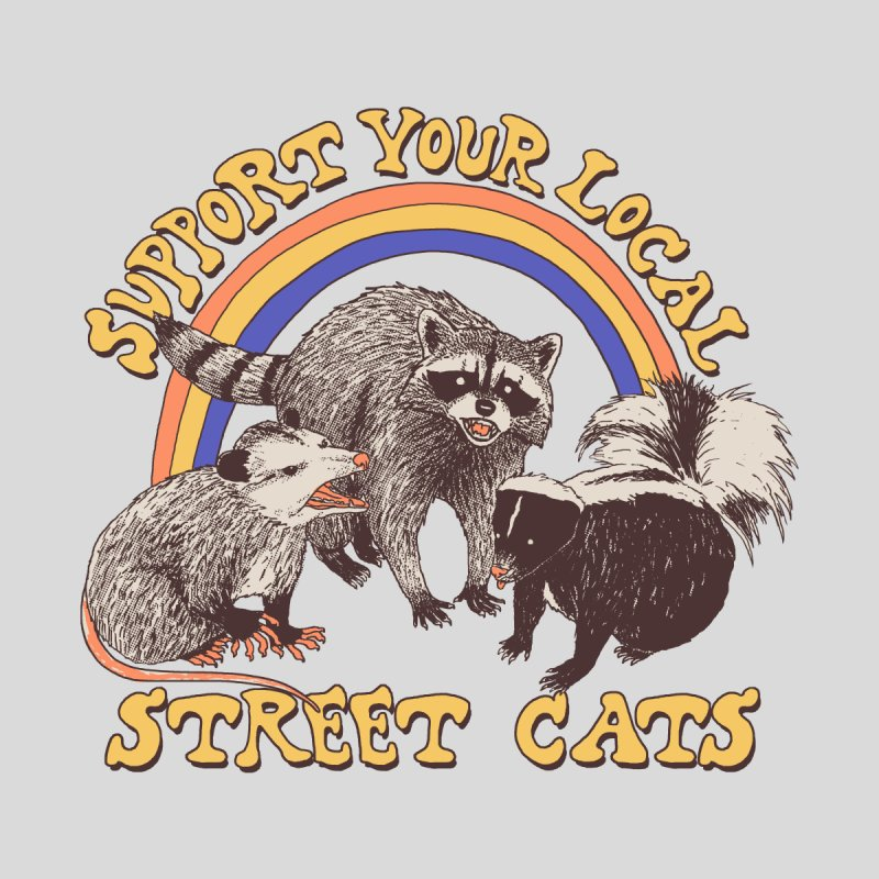 Street Cats Kids T-Shirt by Hillary White