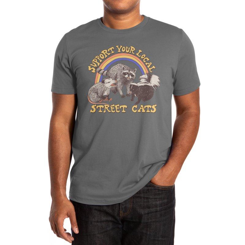 Street Cats Men's T-Shirt by Hillary White