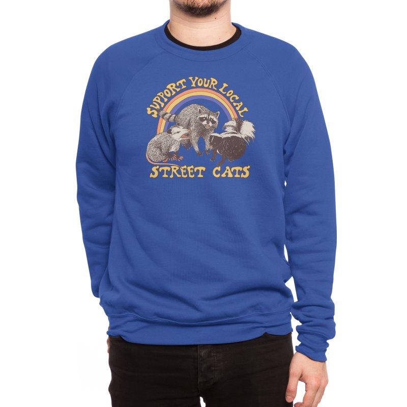 Street Cats Men's Sweatshirt by Hillary White Rabbit