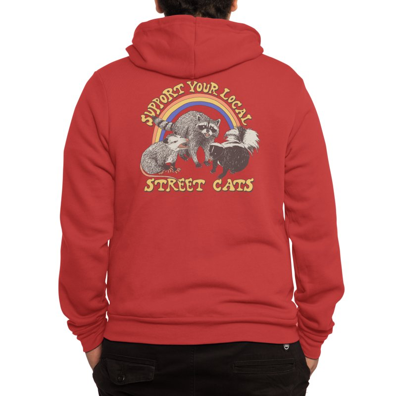 Street Cats Men's Zip-Up Hoody by Hillary White Rabbit