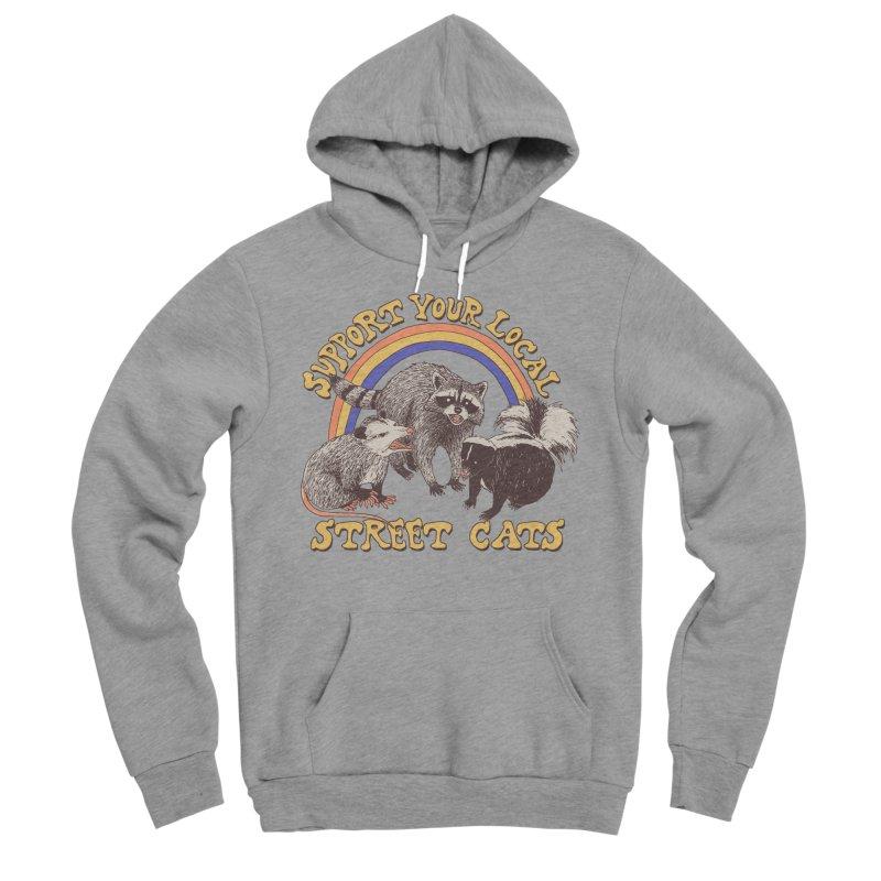 Street Cats Women's Sponge Fleece Pullover Hoody by Hillary White