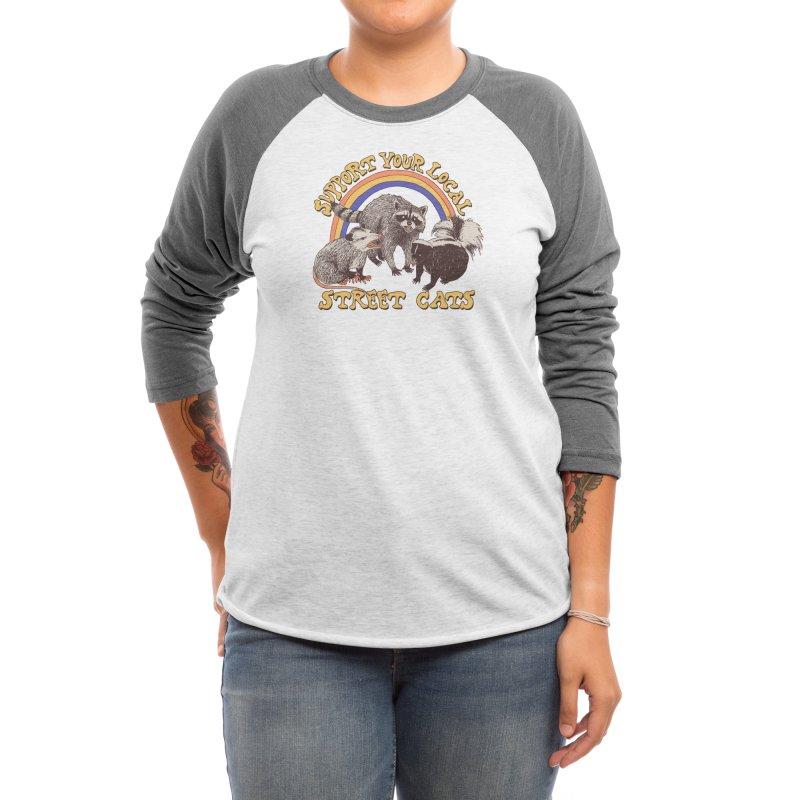 Street Cats Women's Longsleeve T-Shirt by Hillary White Rabbit