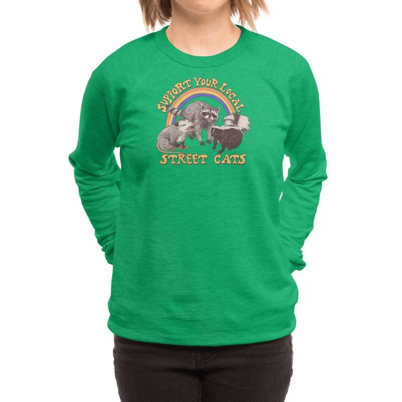 Street Cats Women's Sweatshirt by Hillary White Rabbit