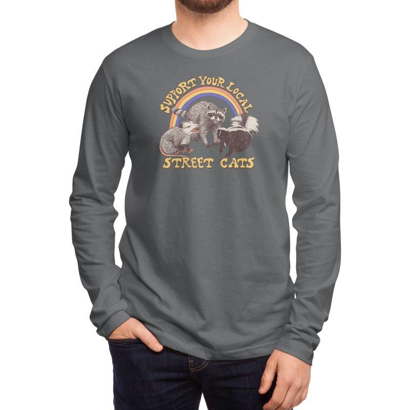 Street Cats Men's Longsleeve T-Shirt by Hillary White Rabbit
