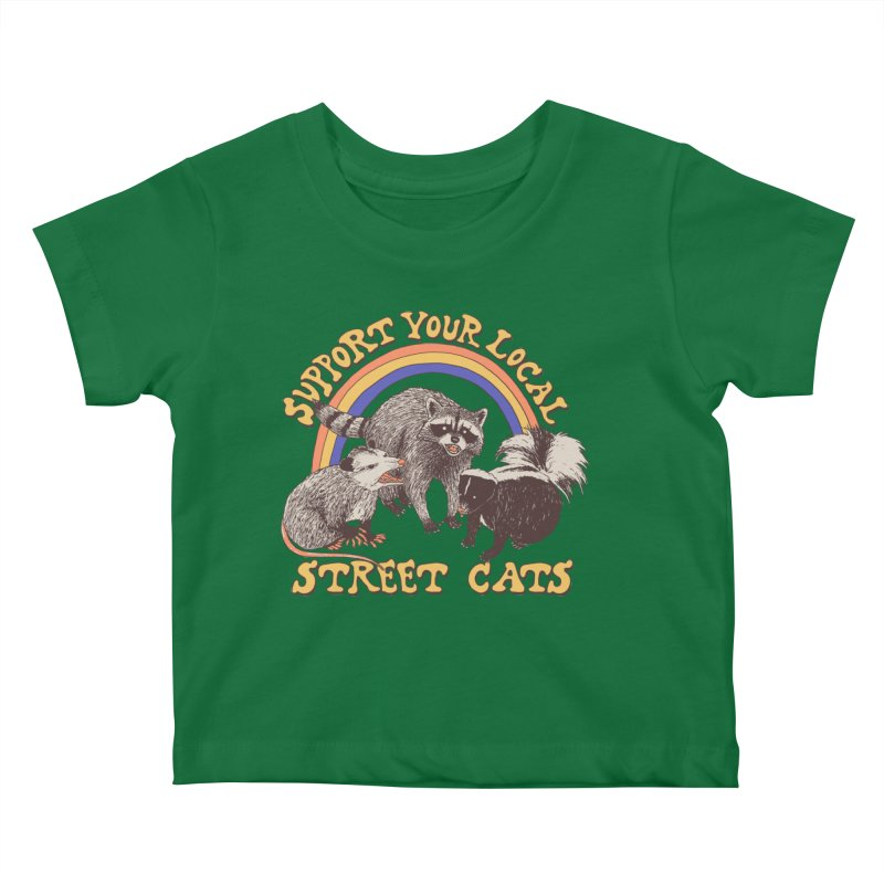 Street Cats Kids Baby T-Shirt by Hillary White