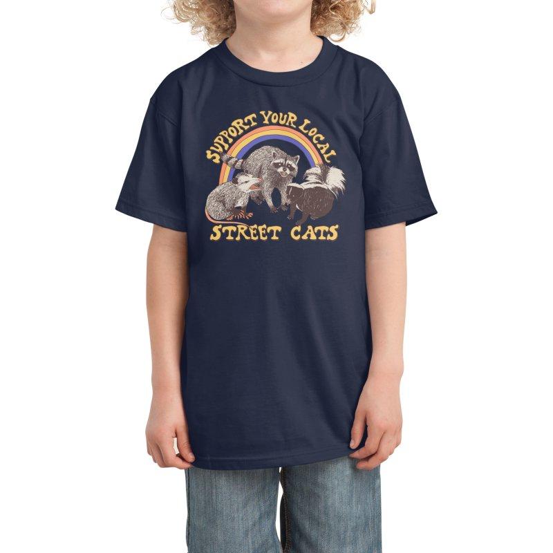 Street Cats Kids T-Shirt by Hillary White Rabbit