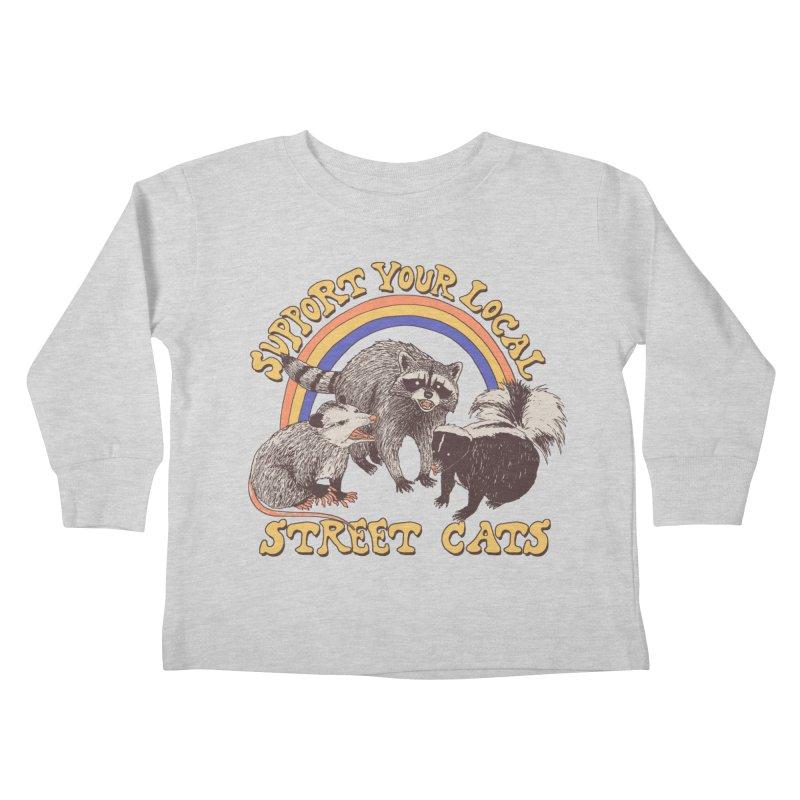 Street Cats Kids Toddler Longsleeve T-Shirt by Hillary White