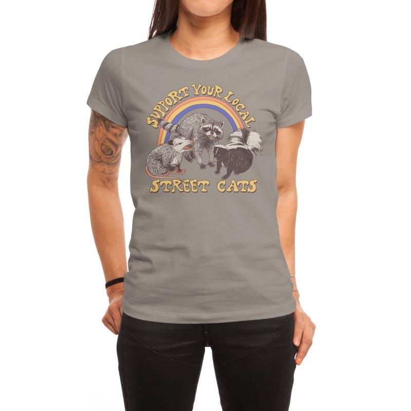Street Cats Women's T-Shirt by Hillary White Rabbit
