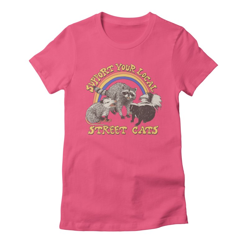 Street Cats Women's Fitted T-Shirt by Hillary White