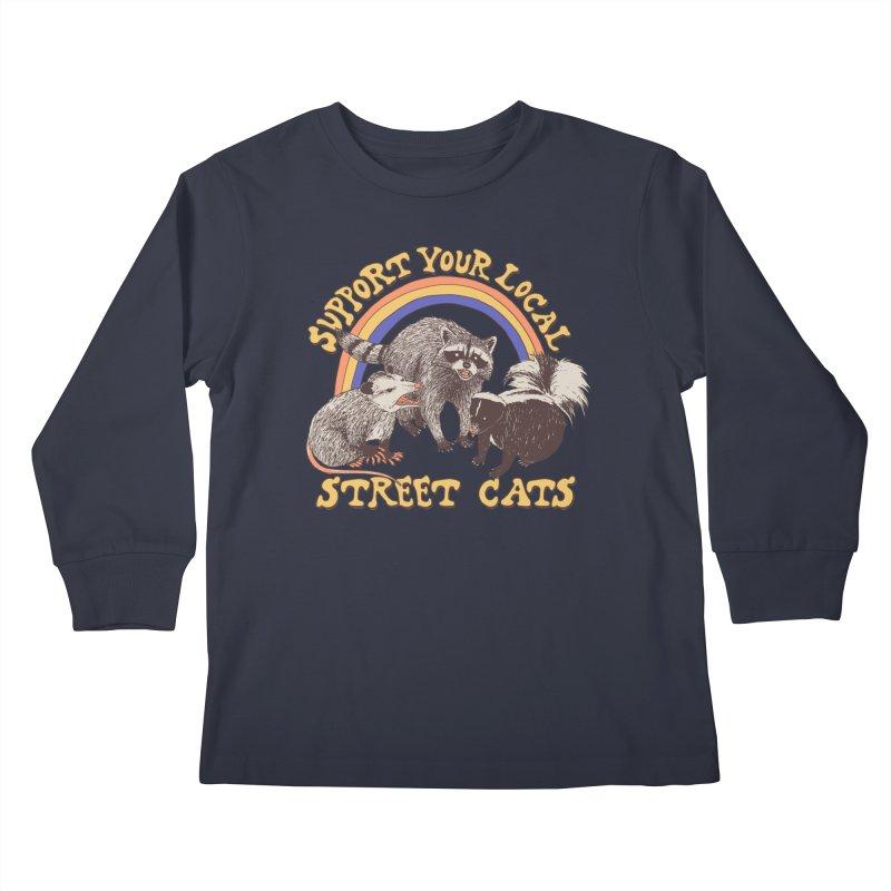 Street Cats Kids Longsleeve T-Shirt by Hillary White