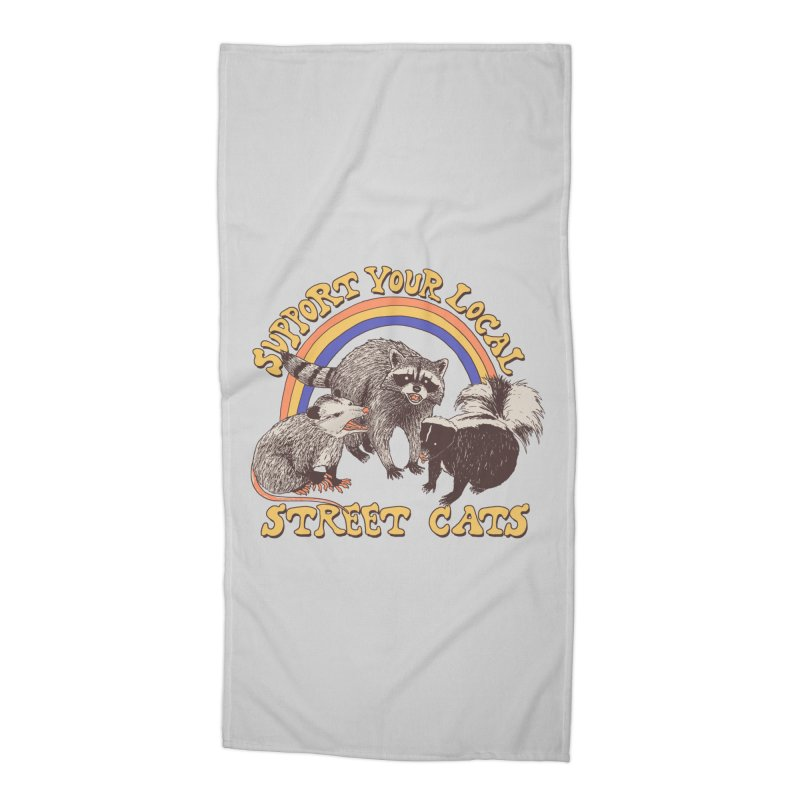 Street Cats Accessories Beach Towel by Hillary White