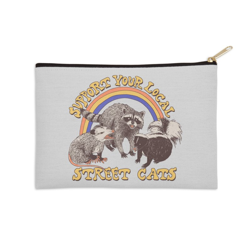 Street Cats Accessories Zip Pouch by Hillary White