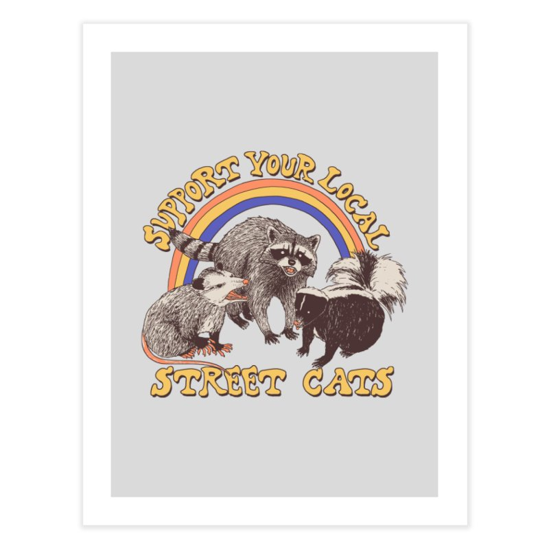 Street Cats Home Fine Art Print by Hillary White