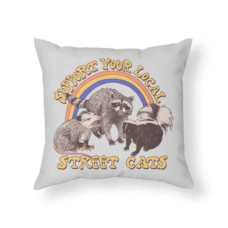 Street Cats Home Throw Pillow by Hillary White