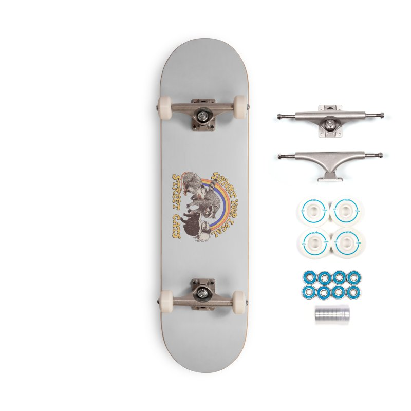 Street Cats Accessories Skateboard by Hillary White Rabbit