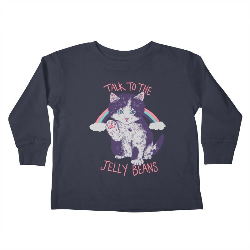 Talk To The Jelly Beans Kids Toddler Longsleeve T-Shirt by Hillary White