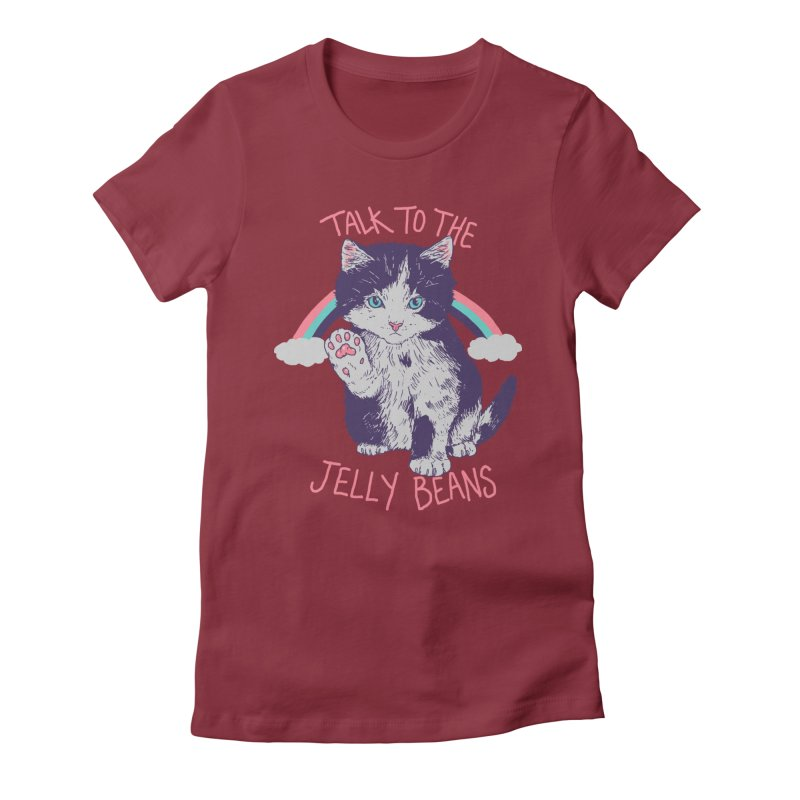 Talk To The Jelly Beans Women's Fitted T-Shirt by Hillary White