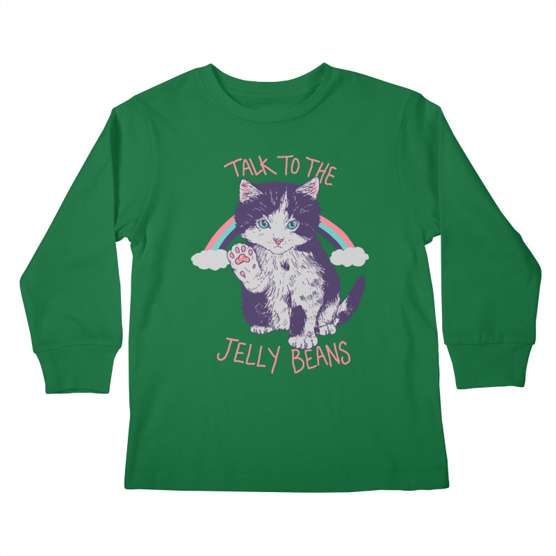 Talk To The Jelly Beans Kids Longsleeve T-Shirt by Hillary White