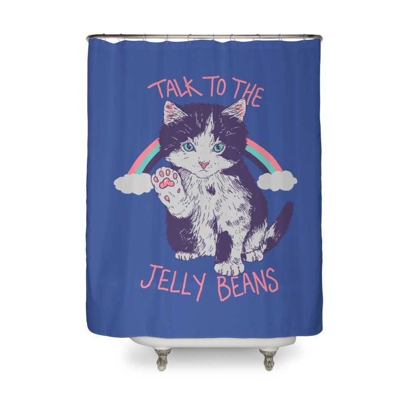 Talk To The Jelly Beans Home Shower Curtain by Hillary White