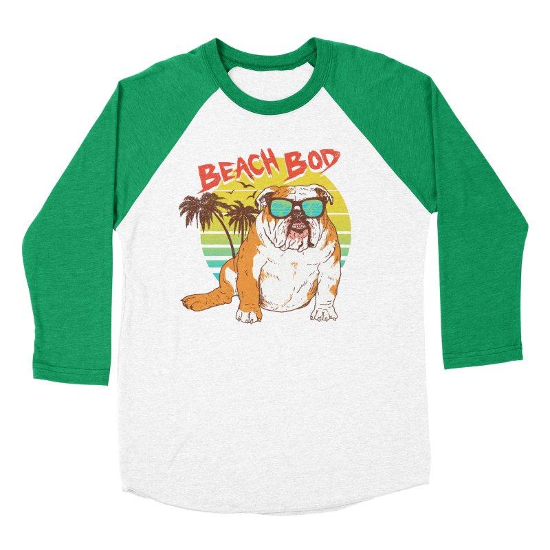Beach Bod Men's Baseball Triblend Longsleeve T-Shirt by Hillary White