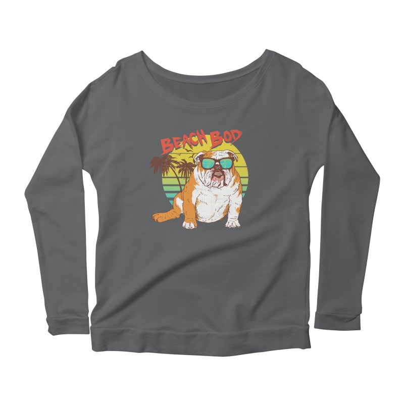 Beach Bod Women's Scoop Neck Longsleeve T-Shirt by Hillary White