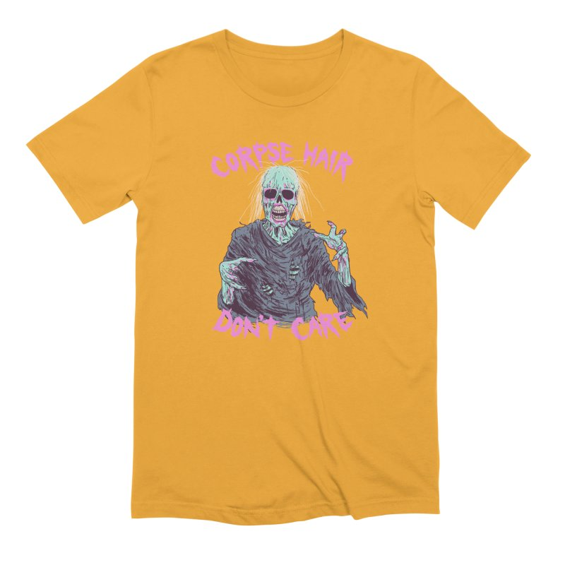 Corpse Hair Don't Care Men's Extra Soft T-Shirt by Hillary White