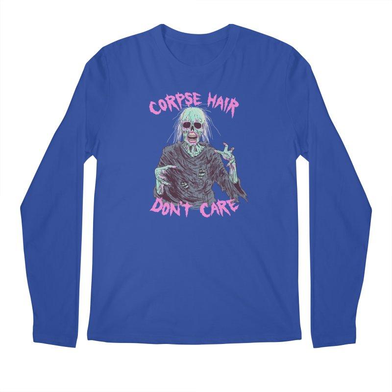 Corpse Hair Don't Care Men's Regular Longsleeve T-Shirt by Hillary White