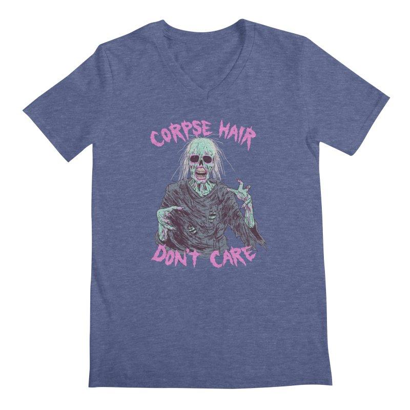 Corpse Hair Don't Care Men's Regular V-Neck by Hillary White