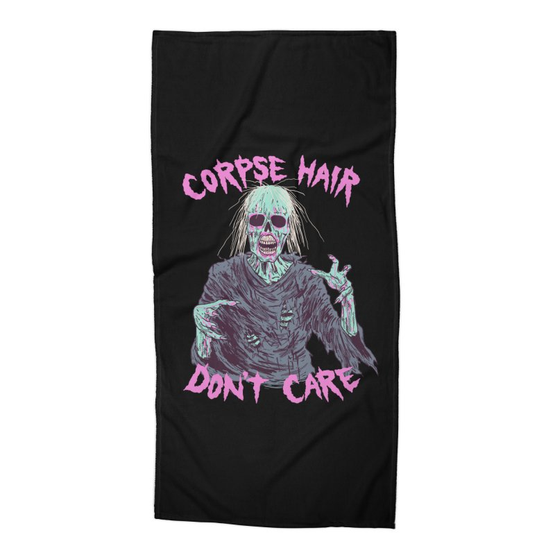 Corpse Hair Don't Care Accessories Beach Towel by Hillary White