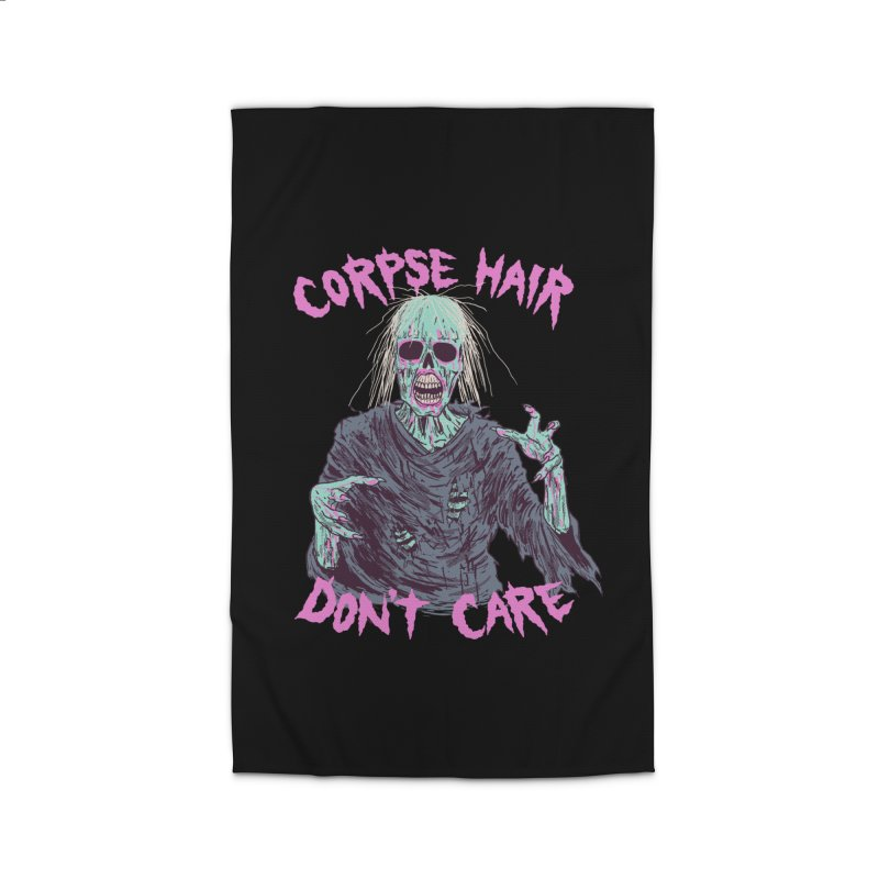 Corpse Hair Don't Care Home Rug by Hillary White