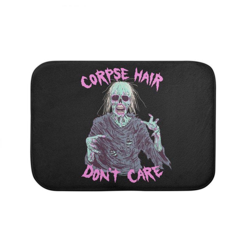 Corpse Hair Don't Care Home Bath Mat by Hillary White