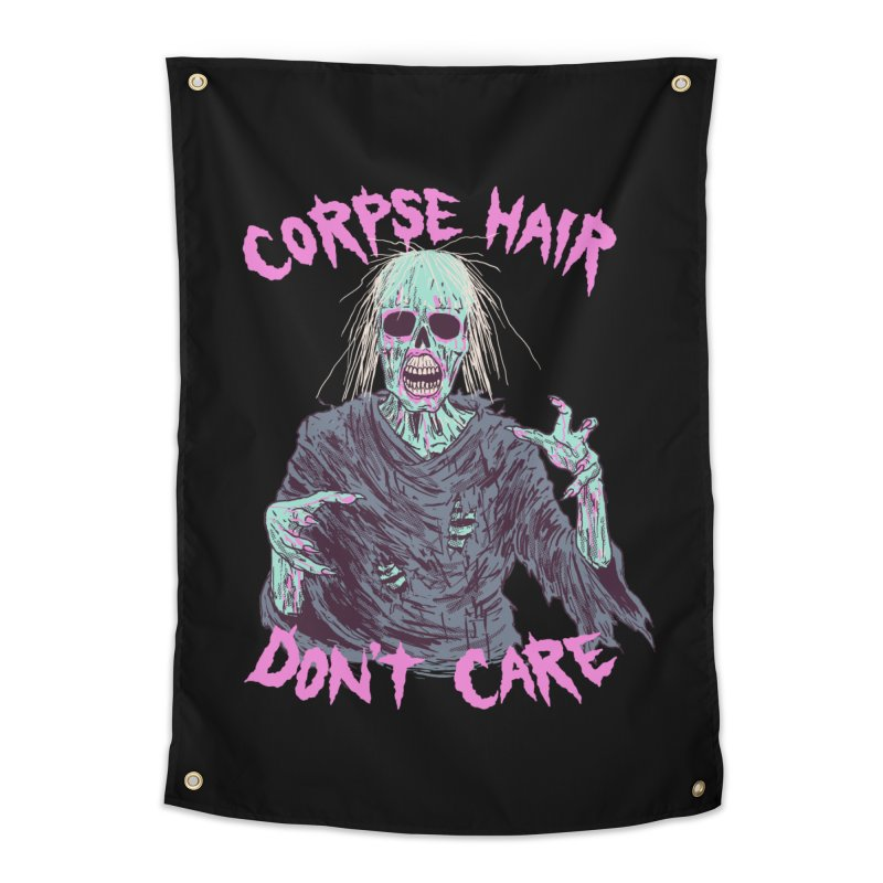 Corpse Hair Don't Care Home Tapestry by Hillary White