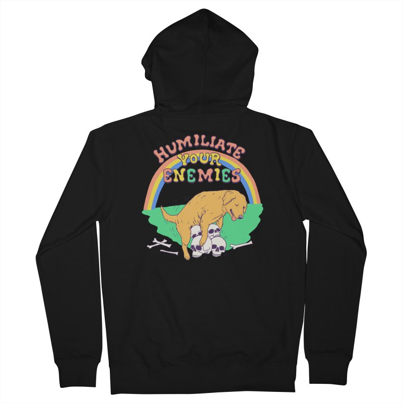 Humiliate Your Enemies Men's French Terry Zip-Up Hoody by Hillary White