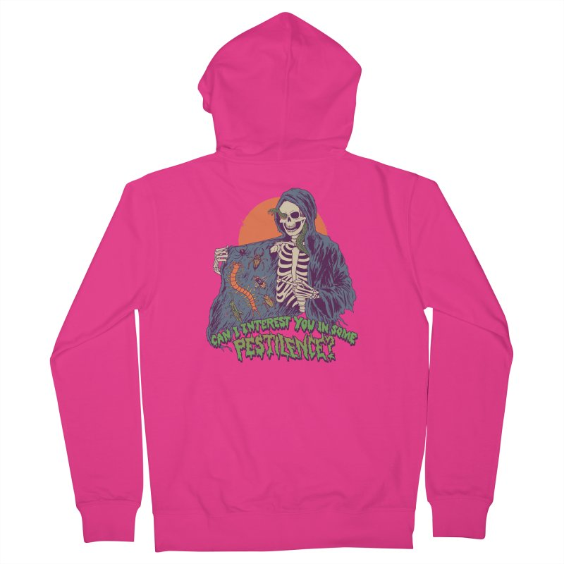 Pestilence Men's French Terry Zip-Up Hoody by Hillary White