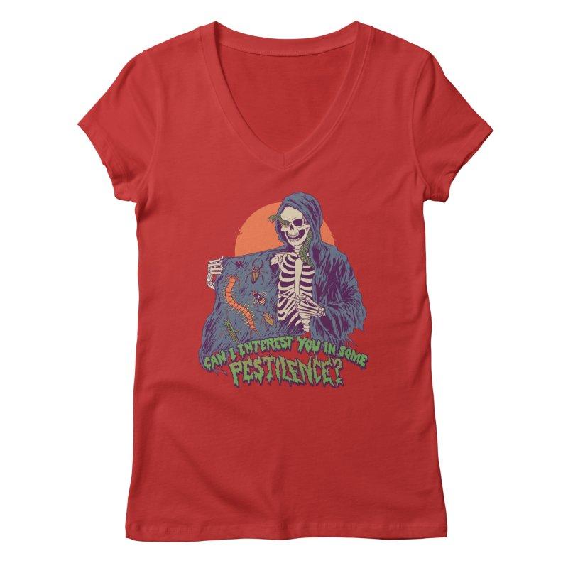 Pestilence Women's Regular V-Neck by Hillary White