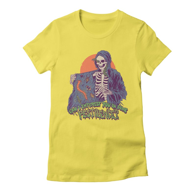 Pestilence Women's Fitted T-Shirt by Hillary White