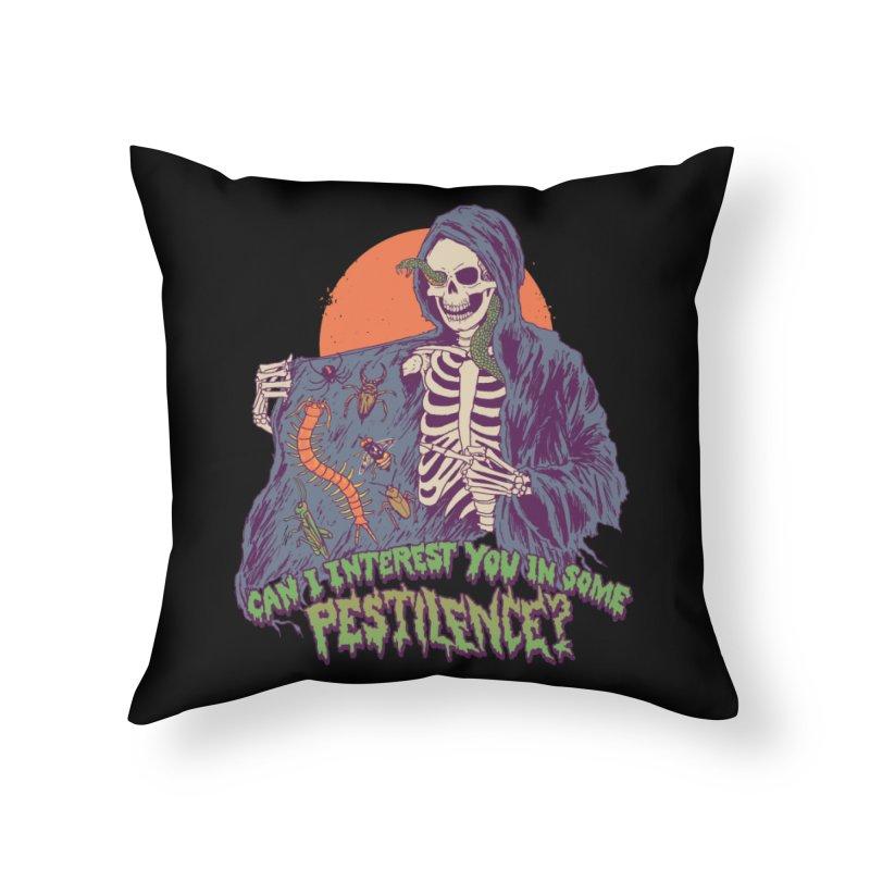 Pestilence Home Throw Pillow by Hillary White