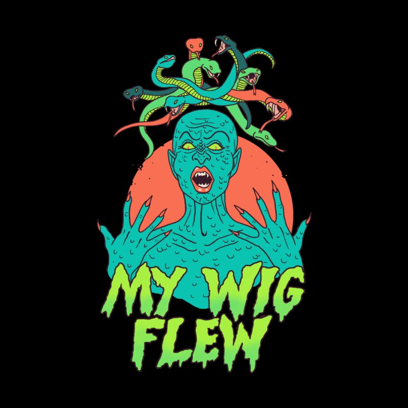 My Wig Flew Men's Zip-Up Hoody by Hillary White